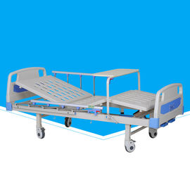 Movable Manual Hospital Bed Durable With Abs Turn Over Table Custom Size